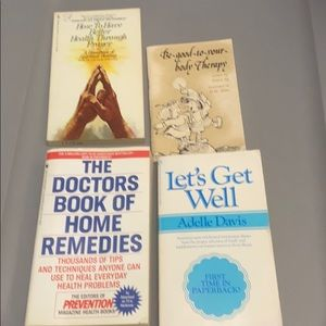 Other - Natural healing vintage paperbacks